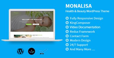 قالب Monalisa - قالب وردپرس سلامتی و زیبایی