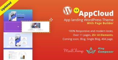 AppCloud - قالب وردپرس فرود اپلیکیشن