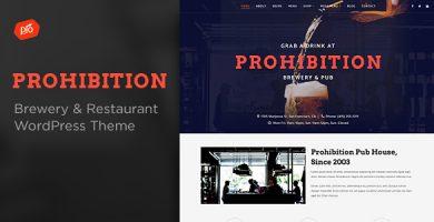 قالب Prohibition - قالب وردپرس رستوران