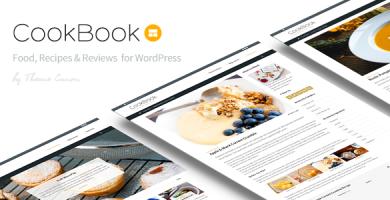قالب CookBook - پوسته وردپرس مجله غذا