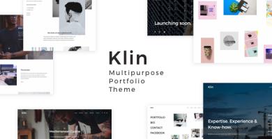 قالب Klin - قالب چندمنظوره نمونه کار برای وردپرس