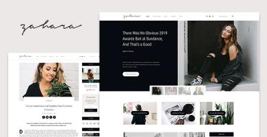 Zahara - یک قالب وبلاگ و فروشگاه وردپرس