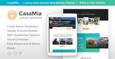 CasaMia - قالب وردپرس اجاره املاک