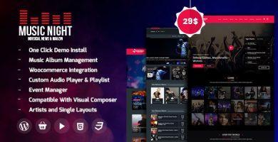 قالب MusicNight - قالب وردپرس وبلاگ