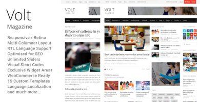 قالب Volt - قالب وردپرس مجله و روزنامه