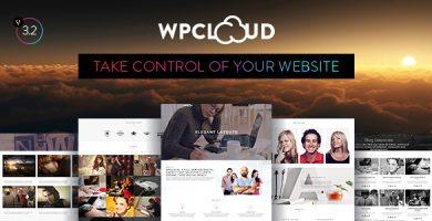 قالب WPCLOUD - قالب وردپرس تک صفحه ای خلاقانه