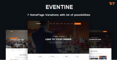 قالب Eventine - قالب سایت رویداد و کنفرانس
