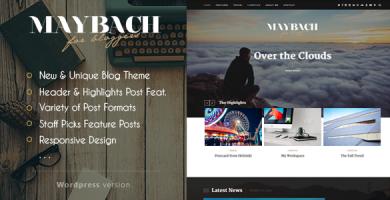 قالب Maybach - قالب وبلاگ وردپرس