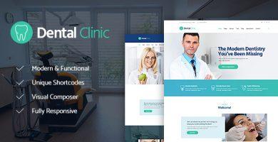 قالب Dental Clinic - قالب وردپرس پزشکی و بهداشت