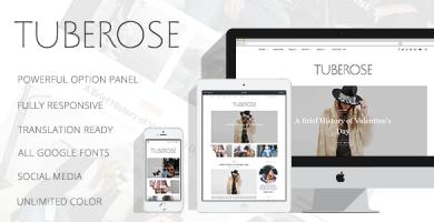 قالب Tuberose - قالب وردپرس شخصی هوشمند