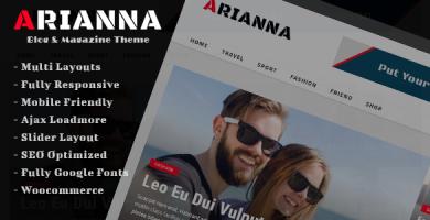 قالب Arianna - قالب وردپرس مجله ای ساده