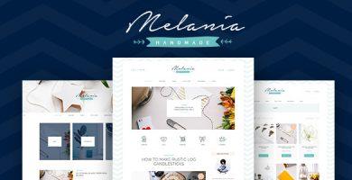 قالب Melania - قالب وردپرس فروشگاه و وبلاگ محصولات دست ساز