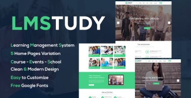 قالب LMStudy - قالب وردپرس دوره آموزشی
