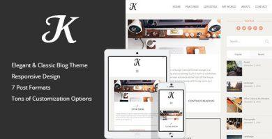 قالب K-Theme - قالب وبلاگ وردپرس