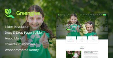 Greengive - قالب وردپرس خیریه