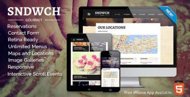 SNDWCH - قالب وردپرس رستوران