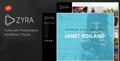 قالب Zyra - قالب تمام صفحه عکاسی
