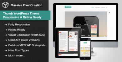 قالب Thumb WordPress Theme - قالب وردپرس ریسپانسیو و رتینا