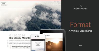 قالب Format - قالب بلاگی وردپرس