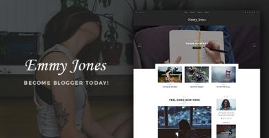 قالب Emmy Jones - قالب وردپرس وبلاگی
