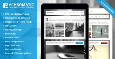 Achromatic - قالب وردپرس کسب و کار