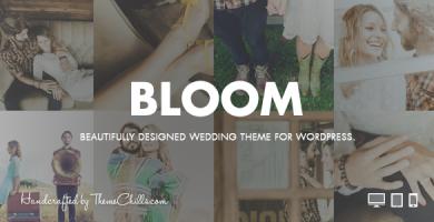 قالب Bloom - پوسته عروسی برای وردپرس