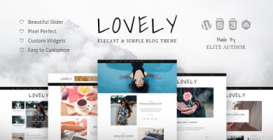 قالب Lovely - قالب وردپرس بلاگ زیبا و ساده
