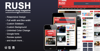 قالب Rush - قالب وردپرس وبلاگ و مجله