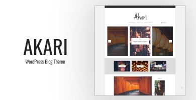 Akari - قالب وبلاگ وردپرس زیبا