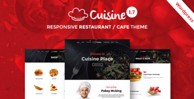 قالب Cuisine - قالب وردپرس رستوران و کافه