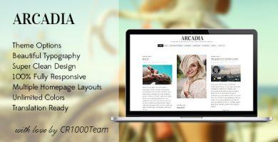 Arcadia - قالب وبلاگ وردپرس ریسپانسیو