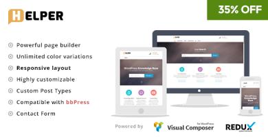 قالب Helper - قالب سایت پایگاه دانش