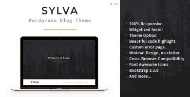 قالب Sylva - قالب وبلاگی مینیمال وردپرس