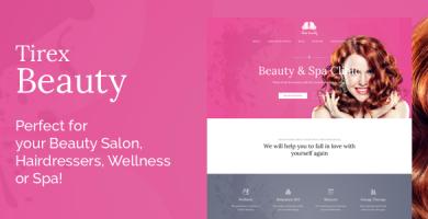 قالب Tirex Beauty - قالب وردپرس برای سالن های زیبایی