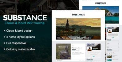 قالب Substance - قالب وردپرس وبلاگی