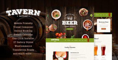 قالب Tavern - قالب وردپرس رستوران