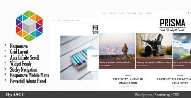 قالب Prisma - قالب وبلاگ وردپرس ریسپانسیو