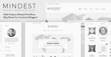 قالب Mindest - قالب وردپرس وبلاگی مینیمال