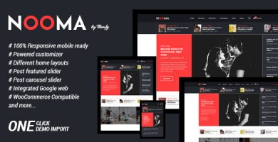 قالب Nooma - قالب وبلاگ وردپرس