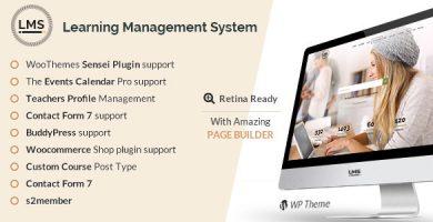 قالب LMS - قالب وردپرس سیستم مدیریت آموزش