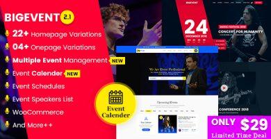 BigEvent - قالب وردپرس رویداد کنفرانس