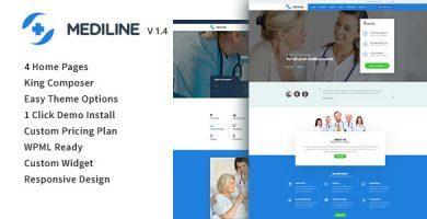 قالب Mediline - قالب وردپرس پزشکی و سلامتی