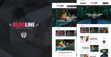 قالب Blogline - قالب وبلاگ وردپرس ریسپانسیو