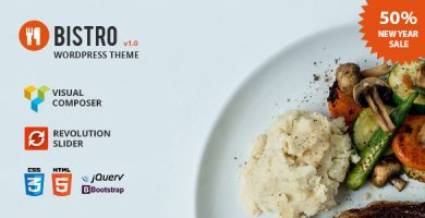 قالب Bistro - قالب وردپرس غذا و رستوران