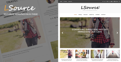 قالب LSource - قالب وردپرس وبلاگی