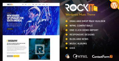 قالب Rockit 2.0 - قالب وردپرس گروه موسیقی