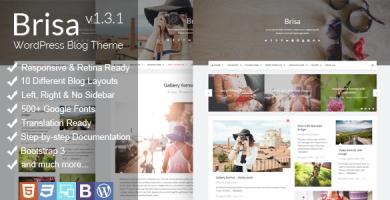 قالب Brisa - قالب وبلاگ وردپرس ریسپانسیو