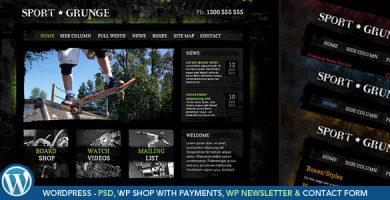 قالب Sport Grunge - فروشگاه وردپرس