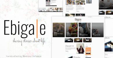 قالب Ebigale - قالب وردپرس وبلاگی مینیمال