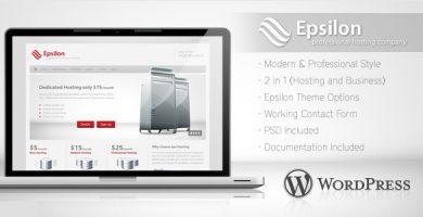 قالب Epsilon - قالب وردپرس هاستینگ و کسب و کار